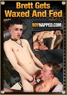 Boynapped 379: Brett Gets Waxed And Fed, starring Brett Wright and Aaron Aurora, produced by BoyNapped.