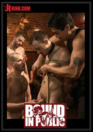 Bound In Public: Kirk Cummings Is Beaten, Humiliated And Fucked In A Crowded Bar, starring Jacques Luvire, Cole Streets and Kirk Cummings, produced by KinkMen.