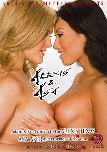 Alexis And Asa, starring Asa Akira, Alexis Texas, Sophia Jade, Dani Daniels, Skin Diamond and Nikki Lee Young, produced by Adam & Eve.