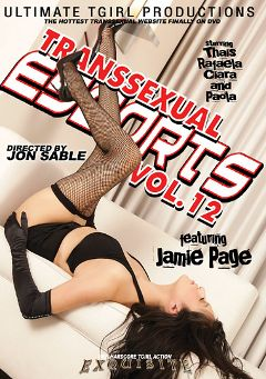 "Adult entertainment movie ""Transsexual Escorts 12"" starring Jamie Page, Rafaela (o) & Clara (o). Produced by Ultimate T-Girl Productions."