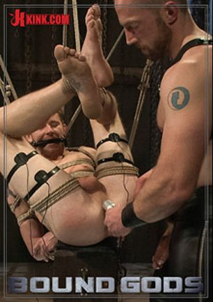 Bound Gods: Perverted Leather Daddy And His Helpless Captive, starring Cole Brooks and Adam Herst, produced by KinkMen.