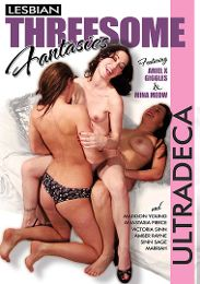 """Featured Star - Amber Rayne presents the adult entertainment movie """"Lesbian Threesome Fantasies""""."""