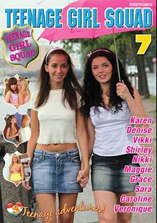 Teenage Girl Squad 7, starring Angel Dickens, Clara Moon, Grace Noel, Grace Young, Vikki (f), Shirley (f), Stephi, Zhenia, Sadie Love and Veronique, produced by Club Seventeen.