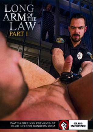 Long Arm Of The Law, starring Dolan Wolf, Jordano Santoro, Brandon Moore, Max Cameron, Drew Sebastian, Preston Johnson and Brian Bonds, produced by Falcon Studios Group, Hot House Entertainment and Club Inferno.