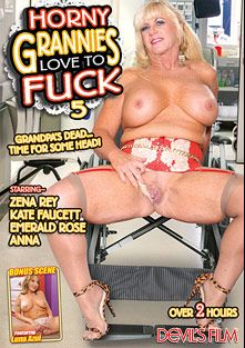 Horny Grannies Love To Fuck 5, starring Zena Rey, Luna Azul, Emerald Rose, Anna, Kate Faucett and Jay Crew, produced by Devil's Film and Devils Film.