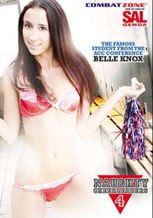Naughty Cheerleaders 4, starring Belle Knox, Marina Angel, Savannah Camden, Isiah Maxwell, May Lee, Sascha Libido, Tee Reel, Scott Lyons and Eric Masterson, produced by Combat Zone.
