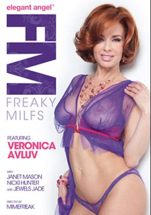 Freaky MILFs, starring Veronica Avluv, Janet Mason, Prince Yahshua, Rico Strong, Jewels Jade, Nicki Hunter, Wesley Pipes and Lexington Steele, produced by Elegant Angel Productions.
