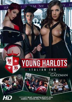 "Adult entertainment movie ""Young Harlots Italian Job"" starring Tessa Thrills, Lucy Heart & Coco De Mal. Produced by Harmony Films Ltd.."