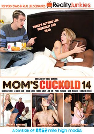 Mom's Cuckold 14, starring Simone Sonay, Aiden Starr, Natasha Starr, Jennifer Dark, Sean Michaels, Prince Yahshua, Jon Jon and Lexington Steele, produced by Reality Junkies and Mile High Media.
