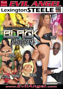 Black Panthers, starring Jamie Sullivan, Sadie Santana, Sophia Fiore, Monique Symone, Megan Vaughn and Lexington Steele, produced by Lexington Steele and Evil Angel.