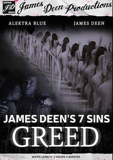 James Deen's 7 Sins: Greed, starring Janice Griffith, Alison Faye, Angelina Chung, Mena Li, Belle Noire, Cameron Canada, Rilynn Rae, Lilly Evans, Dahlia Sky, Lexi Brooks, Lyla Storm, Katie St. Ives, Jessica Ryan, Kimmy Lee, Alektra Blue, Tiffany Tyler, Jennifer Dark and James Deen, produced by James Deen Productions and Girlfriends Films.