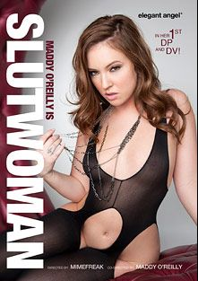 Maddy O'Reilly Is Slutwoman, starring Maddy O'Reilly, Skin Diamond, Phoenix Marie, Jada Stevens, Derrick Pierce, Rico Strong, Wesley Pipes and Erik Everhard, produced by Elegant Angel Productions.