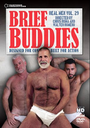 Real Men 29: Brief Buddies, starring Drew Vergas, Zack Powers, Jake Marshall, Mitch Jordan, Lee Silver, Jake Shores and Rikk, produced by Pantheon Productions.