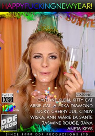Happy Fucking New Year, starring Cayenne Klein, Ann Marie La Sante, Aleska Diamond, Kitty Cat, Abbie Cat, Mugur, Cherry Jul, Wiska, Frank M., Ruka Stone, Anetta Keys, Jasmine Rouge, Lucky, Jana, Cindy, Thomas Stone and Nick Lang, produced by DDF Production Ltd.