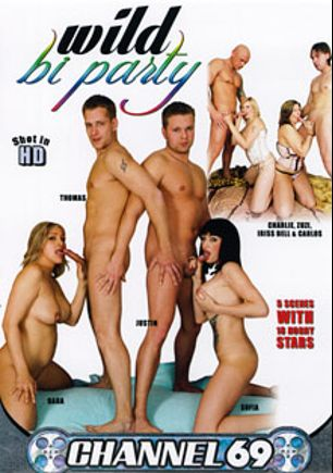 Wild Bi Party, starring Charlie (m), Thomas, Justin *, Carlos, Blue Roses, Zuzi, Iriss Bell, Kitty Jane, Matheus, Carl, Marcela, Felix, Richy, James *, Anthony, Dara and Sofia, produced by Channel 69.