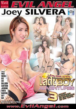Ladyboy Adventures 3, starring Namtan, Gift (o), Balloon, Cartoon, Bee (o), Nat (o), Jasmine (o), Nicole (o), Fanta and Eve (o), produced by Joey Silvera Video and Evil Angel.