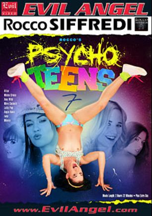 Rocco's Psycho Teens 7, starring Amy Wild, Alice Dumb, Iwia, Lollypop, Minnie, Mira Cuckold, Misha Cross, Angie Koks, Markus Tynai, Mike Chapman and Rocco Siffredi, produced by Rocco Siffredi Productions and Evil Angel.