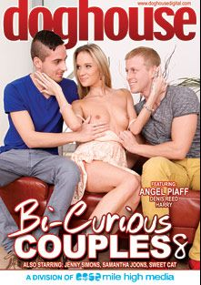Bi Curious Couples 8, starring Denis Reed, Greg Baldwin, Jenny Simons, Chris Hollander, Samantha Johnson, Sven Larsson, Angel Piaff, Sweet Cat, Rado Zuska and Georgio Black, produced by Mile High Media and Doghouse Digital.