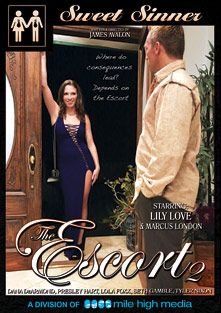 The Escort 2, starring Lily Love, Tyler Nixon, Presley Hart, Lola Foxx, Seth Gamble, Dana DeArmond and Marcus London, produced by Sweet Sinner and Mile High Media.