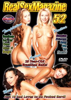 "Adult entertainment movie ""Real Sex Magazine 52"" starring Andrea, Temptation & Pantera. Produced by Real Sex Magazine."