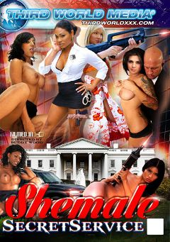 "Adult entertainment movie ""Shemale Secret Service"" starring Chanel Couture, Jane Marie & Natalie Foxxx. Produced by Grooby Productions."