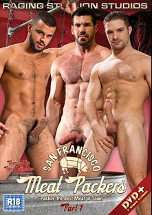 San Francisco Meat Packers, starring Billy Santoro, Tony Orion, Adam Wirthmore, Boomer Banks, Shawn Wolfe, Landon Conrad, Fabio Stallone and Angelo Marconi, produced by Falcon Studios Group and Raging Stallion Studios.