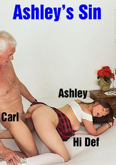 "Adult entertainment movie ""Ashley's Sin"" starring Ashley Moore & Carl Hubay. Produced by Hot Clits Video."