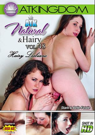 ATK Natural And Hairy 48: Hairy Lesbians, starring Belle Fatale, Starli, Kira Parvati, Simone Delilah, Rhys Adams, Lizaveta K., Irene (f), Alice and Victoria, produced by Amateur Teen Kingdom and Kick Ass Pictures.