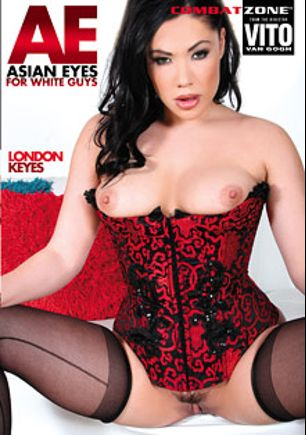 Asian Eyes For White Guys, starring London Keyes, Angelina Chung, Tommy Utah, Romeo Price, Mia Rider, Lana Violet and Nick Manning, produced by Combat Zone.