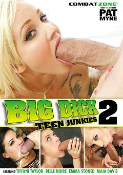"Adult entertainment movie ""Big Dick Teen Junkies 2"" starring Emma Stoned, Belle Noire & Maia Davis. Produced by Combat Zone."