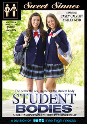 Student Bodies, starring Casey Calvert, Riley Reid, Kimber Day, Tyler Nixon, Logan Pierce, Maddy O'Reilly, Manuel Ferrara and Steven St. Croix, produced by Sweet Sinner and Mile High Media.