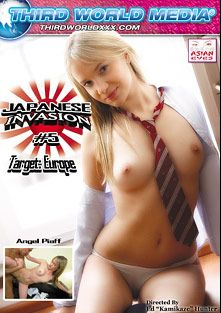 Japanese Invasion 5, starring Angel Piaff, Kerry Raven, Leyla Peachbloom and Sunny Diamond, produced by Third World Media and Asian Eyes.