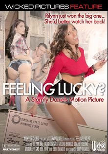 Feeling Lucky, starring Rilynn Rae, Mischa Brooks, Michael Vegas, Seth Gamble, India Summer, Claire Robbins and Mr. Pete, produced by Wicked Pictures.