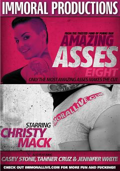 "Adult entertainment movie ""Amazing Asses 8"" starring Christy Mack, Casey Stone & Tanner Cruz. Produced by Immoral Productions."