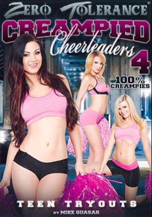 Creampied Cheerleaders 4, starring Amanda Tate, Courtney Shea, Kendall Karson, Tiffany Doll, Bill Bailey, Tommy Pistol, Will Powers and Mark Wood, produced by Zero Tolerance.