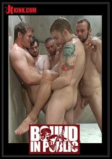 Bound In Public: Lockup, Cell Extraction And Prison Sex 2, starring Hayden Richards, Connor Maguire and Jeremy Stevens, produced by KinkMen.