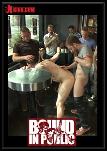 Bound In Public: Nasty Straight Bartender Takedown, starring Rob Yaeger, Will Parks and Hayden Richards, produced by KinkMen.
