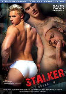 Stalker, starring Brady Jensen, Christian Wilde, Leo Forte, Brian Bonds, Ty Roderick, Robert Axel and Phillip Aubrey, produced by NakedSword Originals.