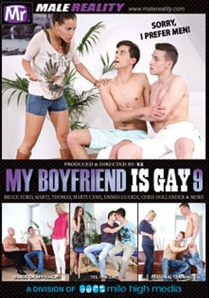 My Boyfriend Is Gay 9, starring Shane Hirch, Bruce Ford, Libor Bores, Danny Castillo, Ryan Olsen, Ennio Guardi, Drago Lembeck and Max Bishop, produced by Mr. Male Reality and Mile High Media.