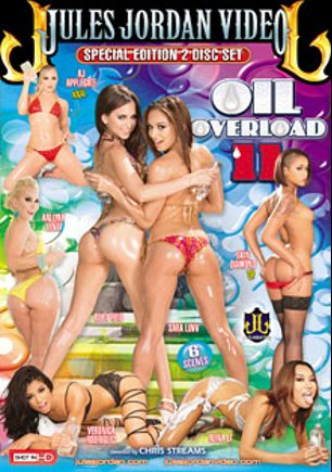 Oil Overload 11, starring Alina Li, Sara Luvv, A.J. Applegate, Aaliyah Love, Veronica Rodriguez, Riley Reid, Skin Diamond, James Deen, Mick Blue, Manuel Ferrara and Erik Everhard, produced by Jules Jordan Video.
