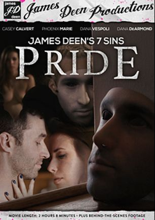 James Deen's 7 Sins: Pride, starring Casey Calvert, Phoenix Marie, Dana DeArmond, James Deen and Dana Vespoli, produced by James Deen Productions and Girlfriends Films.