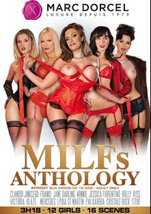 MILFs Anthology, starring Elysee Paradise, Victoria Blaze, Holly Kiss, Jane Darling, Jessica Fiorentino, Cristale Rock, Eva Karera, Franki, Lydia St. Martin, Winnie and Mercedes, produced by Marc Dorcel SBO and Marc Dorcel.