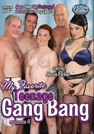 My Favorite Teenage Gang Bang 4, starring Jessie Parker, produced by Group Hug Video.
