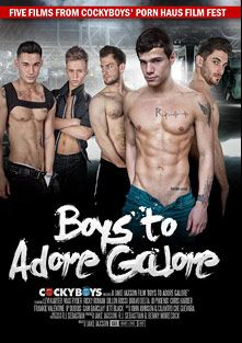Boys To Adore Galore, starring Cameron (Cockyboys), J.D. Phoenix, Dillon Rossi, Bravo Delta, Jett Black, Chris Harder, Levi Karter, Ricky Roman, Max Ryder, J.P. Dubois, Sam Barclay and Frankie V., produced by Cockyboys.