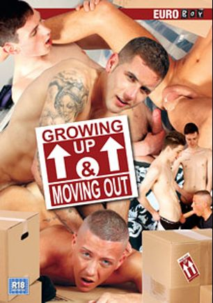 Growing Up And Moving Out, starring Edwin Skykes, Kenzie Mitch, Theo Cox, Dan Broughton, Ashton Bradley, Dakota Sky, Jacob Daniels and Scott Williams, produced by Euroboy.