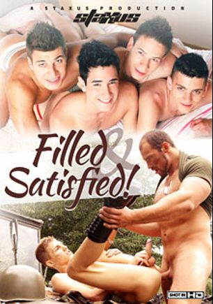 Filled And Satisfied, starring Brad Fitt, Dick Casey, Jimmy Snyder, Nicolas Cruz, Pavel Lindr, Zack Hood, Mark Nil, Rudy Valentino, Nick Sanders and Tim Law, produced by Staxus.