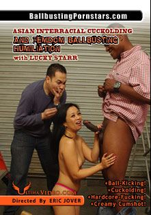Asian Interracial Cuckolding And Femdom Ballbusting Humiliation, starring Lucky Starr (f), Eric Jover and Hooks, produced by Ultima Entertainment.