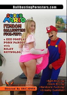 Super Mario Femdom Ballbusting Fuck-Fest: A XXX Cosplay Porn Parody, starring Riley Reynolds and Eric Jover, produced by Ultima Entertainment.