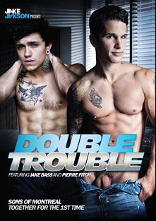 Double Trouble, starring Jake Bass, Pierre Fitch, Levi Michaels, Brandon Jones, Gabriel Lenfant and Colby Keller, produced by Cockyboys.