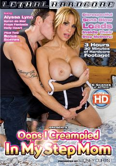 "Adult entertainment movie ""Oops I Creampied In My Stepmom"" starring Alyssa Lynn, Froya Fantasia & Sonny Nash. Produced by Lethal Hardcore."